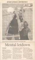 "Mankato Free Press article from 2004 ""Mental letdown: Bethany Lutheran 3, Northwestern 2"""