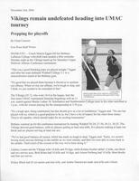 "Bethany Lutheran College 2004 press release for volleyball ""Vikings remain undefeated heading into UMAC tourney: Prepping for playoffs"""