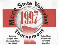 Bethany Lutheran College 1997 MCCC state volleyball tournament flier