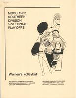MCCC 1982 southern division volleyball playoffs program