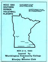 MCCC 1983 southern division volleyball playoffs program