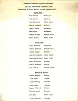 MCCC 1983 volleyball all conference teams roster