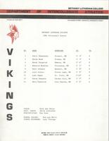 Bethany Lutheran College 1984 volleyball team roster