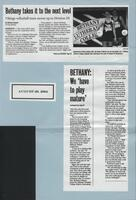 "Bethany Lutheran College 2004 newspaper article for volleyball ""Bethany takes it to the next level"""
