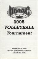 Bethany Lutheran College 2005 UMAC volleyball tournament program