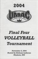 Bethany Lutheran College 2004 UMAC final four volleyball tournament program