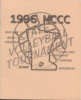 MCCC 1996 state volleyball tournament program
