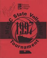 MCCC 1997 state volleyball tournament program