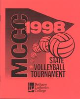 MCCC 1998 state volleyball tournament program