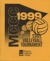 MCCC 1999 state volleyball tournament program