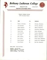 Bethany Lutheran College 1985 volleyball roster