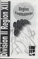 Bethany Lutheran College 2002 Division II Region XIII volleyball region tournament program