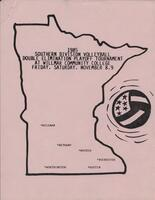 Bethany Lutheran College 1985 MCCC southern division volleyball tournament program