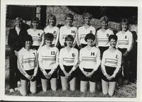 Bethany Lutheran College 1985 portrait of the volleyball team