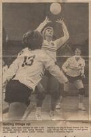 "Mankato Free Press photo October, 1985 ""Setting things up"""