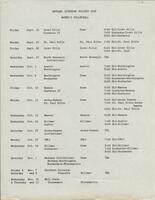 Bethany Lutheran College 1986 volleyball schedule