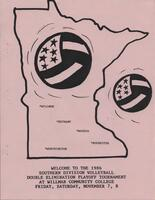 MCCC 1986 southern division volleyball tournament program