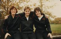 Bethany Lutheran College 1986 portrait of 3 volleyball players