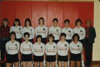 Bethany Lutheran College 1986 portrait of the volleyball team