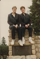 Bethany Lutheran College 1986 portrait of 2 volleyball players