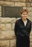 Bethany Lutheran College 1986 portrait of volleyball player Beth Schlie