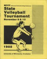 MCCC 1988 state volleyball tournament program