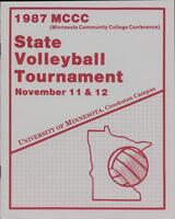 MCCC 1987 state volleyball tournament program