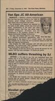 "Mankato Free Press article, 1989, ""Van Eps JC All-American"""