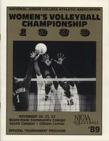NJCAA 1989 women's volleyball championship program