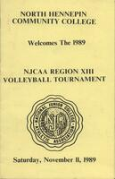 NJCAA 1989 region XIII volleyball tournament program
