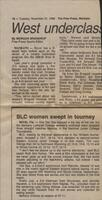 "Mankato Free Press article November 1989, ""BLC women swept in tourney"""
