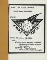 MCCC 1990 south-central volleyball playoffs program