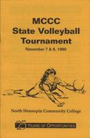 MCCC 1990 state volleyball tournament program
