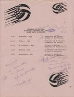 Bethany Lutheran College 1990 volleyball program from Willmar Community College Volleyball Invitational