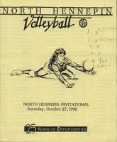 Bethany Lutheran College 1990 volleyball program from North Hennepin Invitational