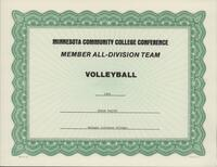 Bethany Lutheran College 1993 MCCC certificate for volleyball player Bekah Padjen