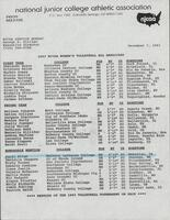 NJCAA 1993 women's volleyball All-American team rosters