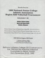 NJCAA 1995 region XIII volleyball tournament results